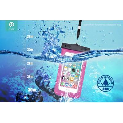 Custodia Waterproof fino 30 Metri Con Presa Auricolare Blu