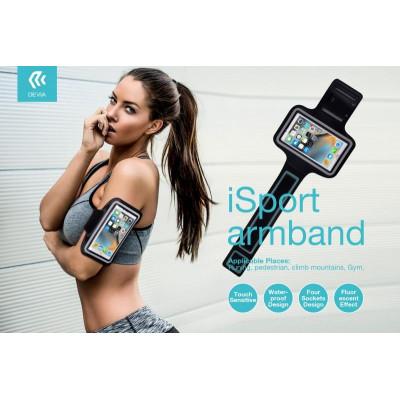 iSport Fascia Supporto per Smartphone max5.5 Waterproof Nera