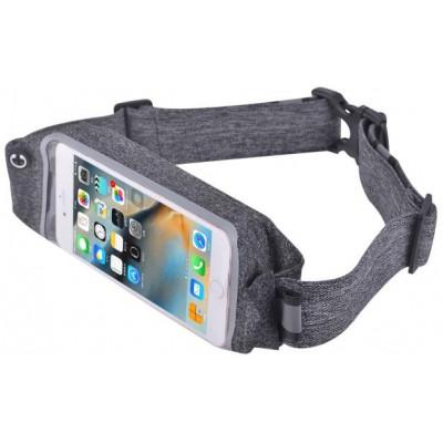 Marsupio Easygo in Lycra con Porta Smartphone Grigio
