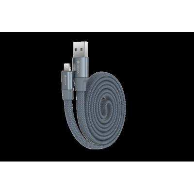 Cavo Piatto in corda Ring Y1 Micro-Usb 80cm Grigio