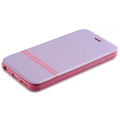 Cover a Libro per Iphone 6 con Stampa in Seta colore Viola