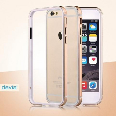 Cover Bumper Alluminio Per iPhone 6 e 6S Champagne Gold