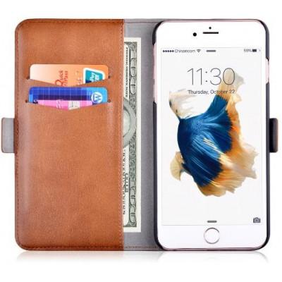 Custodia in Pelle con Portadocumenti per iPhone 6S/6 Marrone