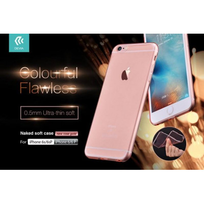 Cover TPU Slim 0.5 mm Morbida Per iPhone 6/6S Rosa