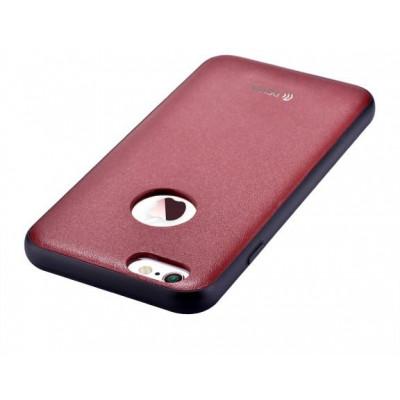 Cover in Vera Pelle iPhone 6/6S Plus Con Vista Logo Bordeaux
