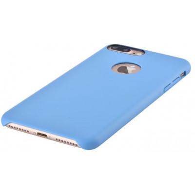 Cover C.E.O. Microfibra Per iPhone 7 Con Vista Logo Blu
