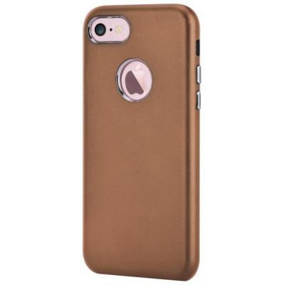 Cover Successor con Vista Logo per iPhone 7 Marrone