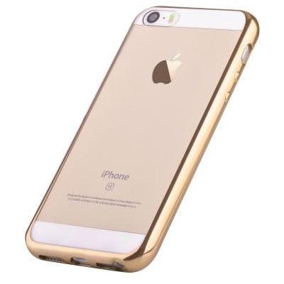 Custodia Protettiva per iPhone 5 5C 5S SE Soft Colore Oro
