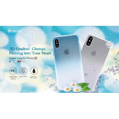 Cover Effetto Acqua in materiale atossico per iPhone X Blu