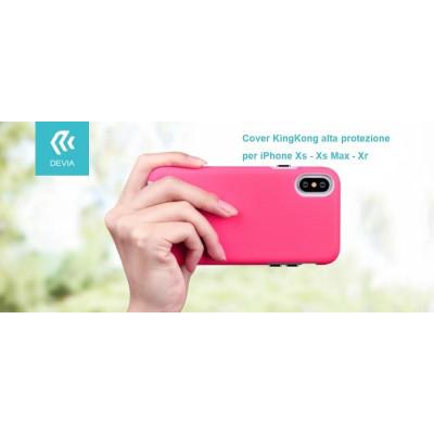 Cover KinKong alta protezione per iPhone Xr 6.1 Rosso chiaro