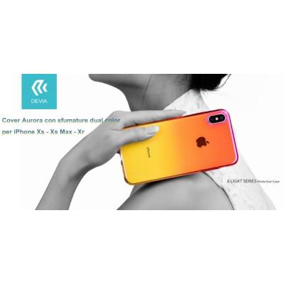Cover Aurora dual color Giallo e Rosa per iPhone Xs Max 6.5