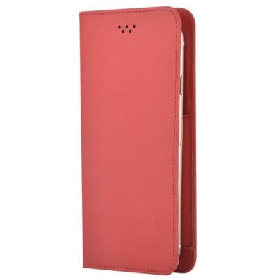 Custodia a Libro Universale per Smartphone 5 Pollici Rossa