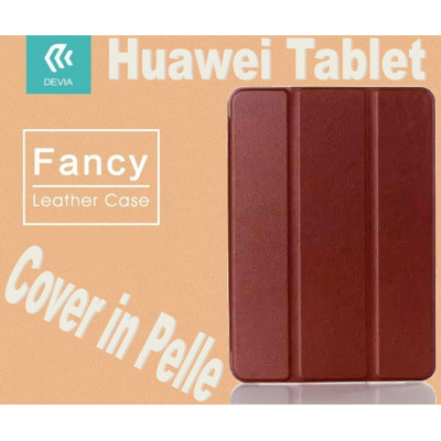 Custodia a Libro in Pelle Per Huawei T1-701U Marrone