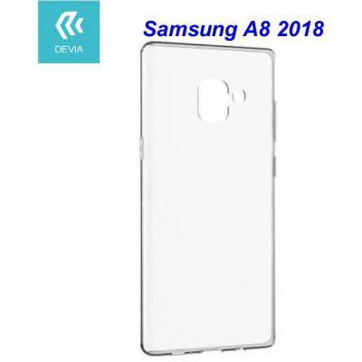 Custodia protettiva morbida per Samsung A8 2018 trasparente