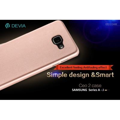 Cover C.E.O. Microfibra Per Samsung J3 2016 Nera