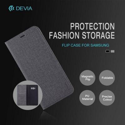 Cover a libro Flip Case per Samsung J3 2017 Nera