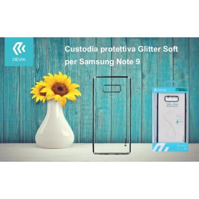 Custodia protettiva Soft Glitter per Samsung Note 9 Nera