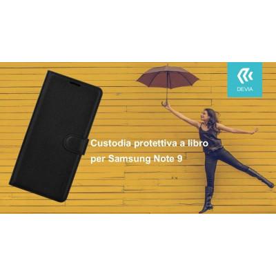 Custodia protettiva a libro per Samsung Note 9 nera