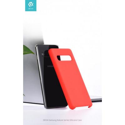 Cover Protezione per Samsung S10e in Silicone Morbido Rossa