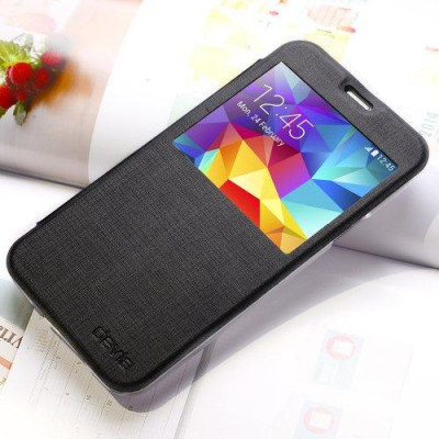 Cover Devia Talent Con Finestra per Samsung Galaxy S5 Nera
