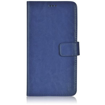 Custodia a Libro in Pelle Per Samsung Galaxy S6 Blu Navy