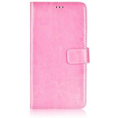 Custodia a Libro in Pelle Per Samsung Galaxy S6 Rosa Chiaro