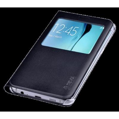 Cover Samsung S6 Edge+ Plus con Finestra Touch Colore Nera