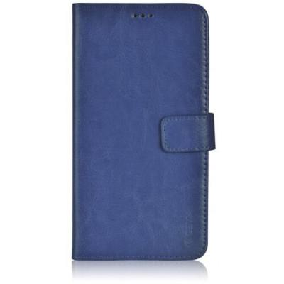 Custodia a Libro in Pelle Per Samsung Galaxy S6 Edge Blu