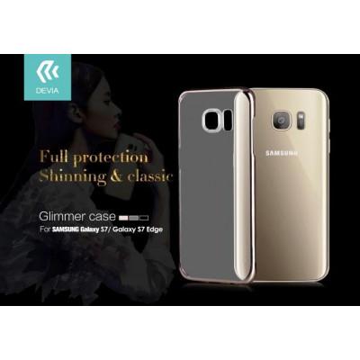 Cover Glimmer 0.6 mm per Samsung Galaxy S7 Edge Nera
