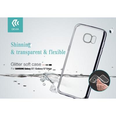 Cover Glitter Soft per Samsung Galaxy S7 Edge Nera