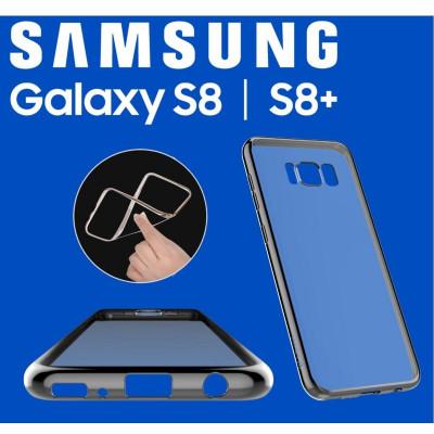 Cover Glitter Soft per Samsung S8 Gun Black