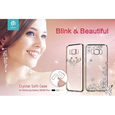 Cover Iris soft Crystals from Swarovski Samsung S8 Cham.Gold