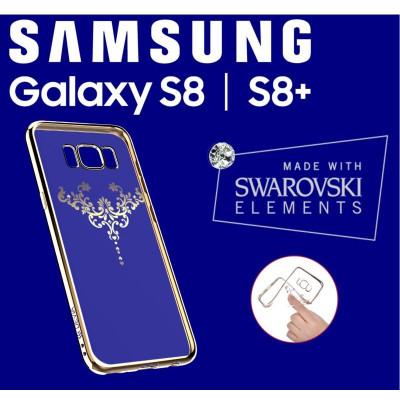 Cover Swarovski Crystal Iris soft per Samsung S8 Plus Gold
