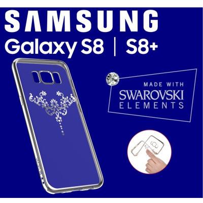 Cover Swarovski Crystal Iris soft per Samsung S8 Plus Silver