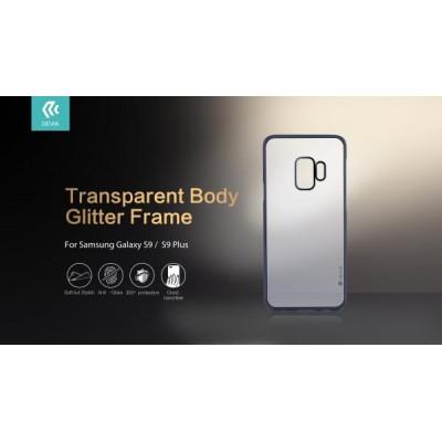 Cover Protezione Glitter Soft per Samsung Galaxy S9 Silver