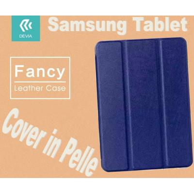 Custodia in pelle per Tablet Samsung TabS2 8.0 T715 Blu