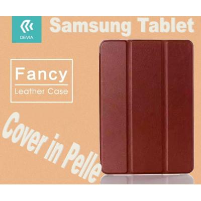 Custodia in pelle per Tablet Samsung Tab E 9.6 T560 Marrone