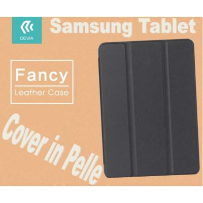 Custodia in pelle per Tablet Samsung Tab 4 10.1 T530 Nera