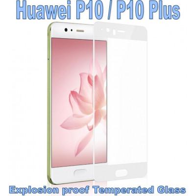 Pellicola Vetro Temperato Full per Huawei P10 Bianca