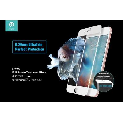 Vetro Temperato 0.26 Full Screen iPhone 7 Plus Bianca Jade
