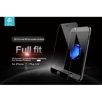 Pellicola vetro temperato Full Screen per iPhone 7 Plus Nera