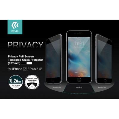 Pellicola Vetro temperato Full Privacy iPhone 7 Plus Nera