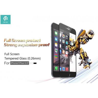 Pellicola vetro temperato Full Screen iPhone 7 Plus Nera