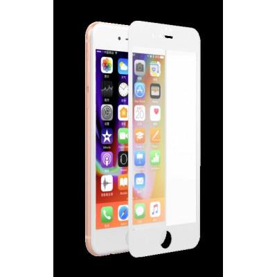 Pellicola Full Vetro Anti UV 0.18 mm iPhone 7/8 Plus Bianca