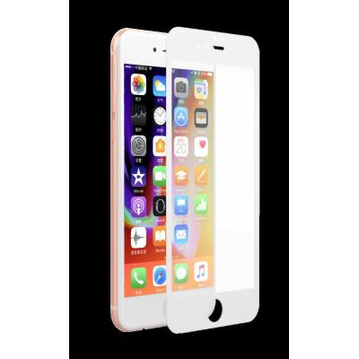 Pellicola vetro Anti Impronte Full iPhone 8/7 Plus Bianca