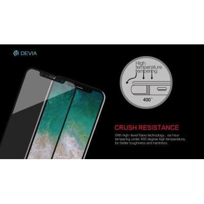 Vetro temperato Van invisibile e anti-polvere per iPhone X