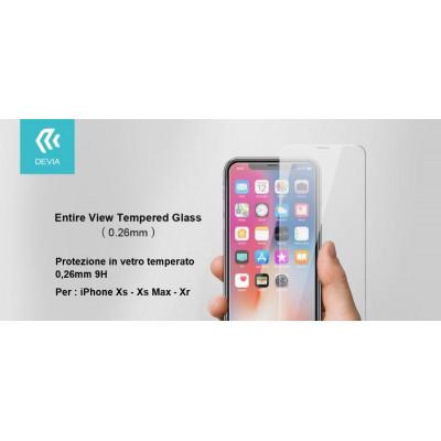 Pellicola Protezione in vetro temperato per iPhone Xs 5.8