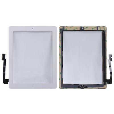Vetro Touch Adesivi Pulsante per iPad 3 Bianco AAA+