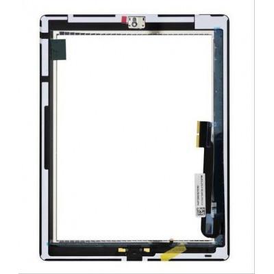 Touch Panel con Pulsante e adesivo per iPad 4 Bianco AAA+