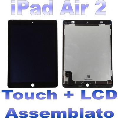 LCD + Touch Assemblato per iPad 2 Air Nero Grado A+ A1566